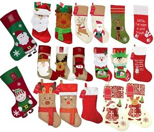Christmas Stocking Large Sack Tapestry Xmas Decoration Stockings Gift Presents