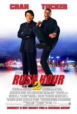 RUSH HOUR 2 MOVIE POSTER 2 Sided ORIGINAL FINAL 27x40 JACKIE CHAN CHRIS TUCKER