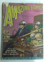Amazing Stories Magazine December 1927 Vol 2, #9 Vintage Pulp Science Fiction