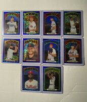2021 TOPPS HERITAGE BLUE SPARKLE REFRACTOR CHROME (LOT OF 10)🔥🔥
