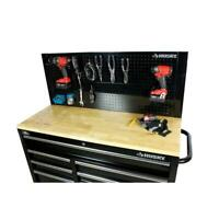 """Husky Heavy Duty 46"""" Pegboard Back Wall Tool for Work Bench Holder Mounted 2 Day"""