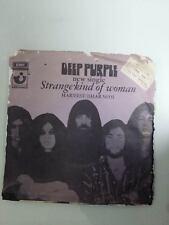 """DEEP PURPLE strange kind of woman 1971 HARVEST ISRAEL 7"""" VG+/EX-"""