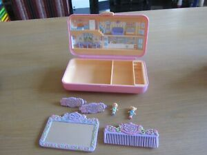 VINTAGE 1990 POLLY POCKET PRETTY HAIR PLAYSET 99% COMPLETE