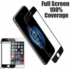 Full Coverage HD Tempered Glass Film Screen Protector fo iPhone 6 6s Black