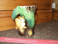 COLLECTABLE - HORNSEA POTTERY no. 75 - SQUIRREL ON BRANCH  VASE