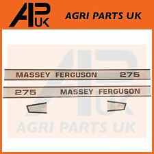 Massey Ferguson 275 tractor número de modelo Decal Sticker Set Pegatinas de Bonnet