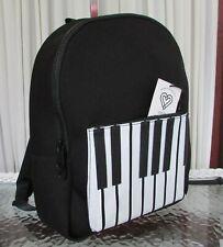 Lady Gaga Love Bravery Elton John Neoprene Backpack Piano Keys Music Large NWT