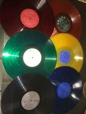 (6) Color Vinyl Record Albums Blue Red Yellow Green ART Décor Wall Original a
