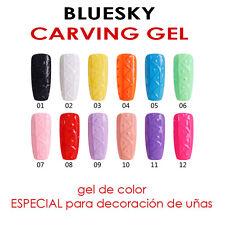 Gel decoración uñas, NUEVO CARVING BLUESKY - base y top coat (2 en 1), primer