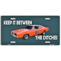 "General Lee Keep It Between The Ditches Novelty License Plate 6"" x 12"""