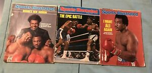 Lot of 3 -1975 Sports Illustrated Magazines-BOXING~Don King, Epic Battle, George