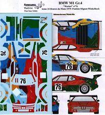 """decal 1/43 BMW M1 Gr.4 """"WARHOL"""" 24h LE MANS 1979 RENAISSANCE TK43/14"""