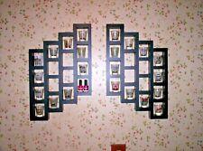 40 Shot Glass Shooter Display 2 pc Wall Organizer Shelf Black Painted Solid Wood