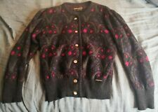 GEIGER Ultra Soft Wool & Mohair Cardigan Sweater Size 36