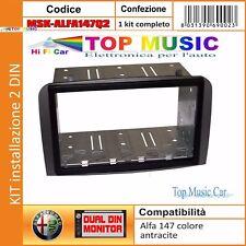 ALFA 147 Q2 DAL 2007 MASCHERINA AUTORADIO 2DIN 2ISO + PLANCIA METALLICA