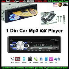 Single 1 Din Car DVD CD MP3 Player Audio FM Radio BT In-dash USB/AUX/SD Stereo