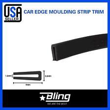 20ft Rubber Trim Seal Black U Channel Molding Strip Car Auto Door Edge Protector