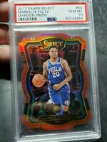 2017-18 Panini Select Maroon Prizm Die-Cut Markelle Fultz RC /135 PSA 10