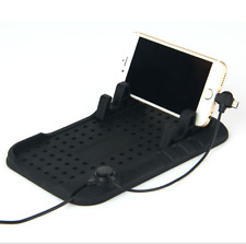 USB Mount Car Holder Dashboard Stand Magnetic Charger Non-Slip Pad for Phone GPS