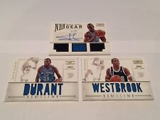 Panini National Treasures 2012-13 Durant Westbrook Ibaka Auto Patch Lot (3)