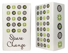 """""""Spare Change"""" Colorful Pretty Penny Small Penny Ceramic Coin Bank, 5""""H, Small"""