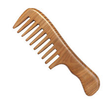 Wooden Natural Sandalwood Handmade Wide Tooth Comb Massage Comb Hair Care OZ