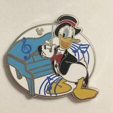 Disney Pin Donald Duck Piano Musicians 2019 Dlr Hidden Mickey