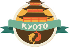 "Kyoto Japan World City Travel Label Badge Car Bumper Sticker Decal 5"" x 4"""