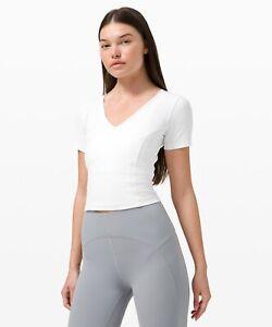 New w tag Lululemon Nulu yoga short sleeve crop top short sleeve 8 Cute