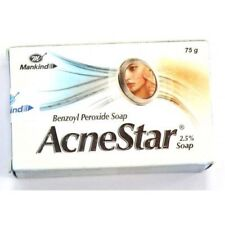 Pack Of 3 Acnestar 2.5 % Benozyl Peroxide Soap For Acne Clear Skin (75 gm each)