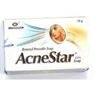 Pack Of 3 Acnestar 2.5 % Benozyl Peroxide Soap For Acne Clear Skin (75 gm each)