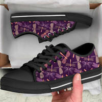 Dragonflies Lover Women's Low Top Shoes - Dragonfly Custom Canvas Shoes