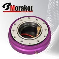 "Universal Steering Wheel 6 Bolt Hub Adapter 1.5"" Short Quick Release Kit Purple"