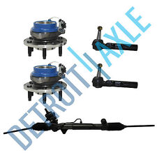 Kit: Steering Rack and Pinion + 2 Wheel Hub Bearing w/ ABS + 2 Outer Tie Rod AWD