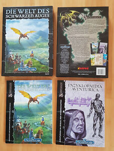 DSA-Box: Die Welt des Schwarzen Auges, 2 Hefte, 3 Pläne, guter Zustand.