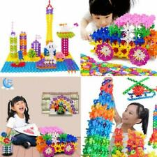 400 Pcs Kid Baby Educational Snowflake Toys Creative Building Blocks Puzzle FW
