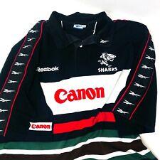 Reebok 90s Vintage SAN JOSE SHARKS Men's Spell Out Short Sleeve Jersey, Size XXL