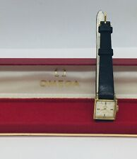 Omega Geneve Vintage Gold Plated Cal. 485 Manual Wind Ladies Square Watch