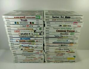 Nintendo Wii Pick Choose a Game Complete Rare Fun Action Family Puzzle