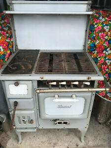 ANTIQUE VINTAGE Early 1900's DUEL FUEL (GAS/WOOD BURNING) KITCHEN COOK STOVE