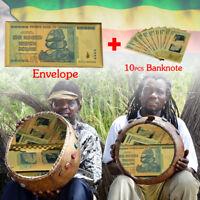 WR Zimbabwe 100 trillion color printed banknotes 10 pcs and envelopes Collectble