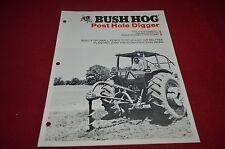 Bush Hog Post Hole Digger Dealer's Brochure YABE10