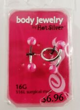 set Surgical Steel Curved & twist Eyebrow Ring Barbell for Ear Tongue Nipple