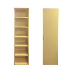 Cupboard Shelves NEW Adjustable shelves, removable door CDs books office home