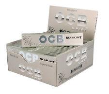 Full Box OCB Silver X-Pert Slim Fit Kingsize Smoking Rolling Cigarette Papers