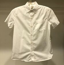 Gap Kids Boys Short Sleeve Button Down White Shirt ~ Sz (8) M ~ VGUC