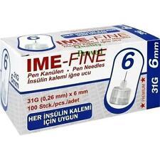 IME FINE Universal Pen Kanülen 31 G 6 mm 100 St
