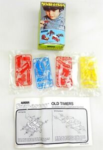 Aurora #9258 ~ SNAP-A-ROOS OLD TIMERS ~ 4 Snap-Together Collector Sets NIB ~ T97