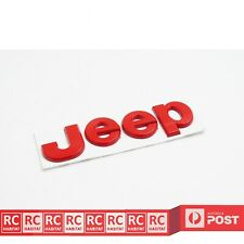 Red JEEP Metal Sticker Rear Badge Emblem Decal Wrangle Cherokee Compass