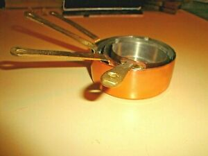 Vintage  4 Copper Measuring Cups Set